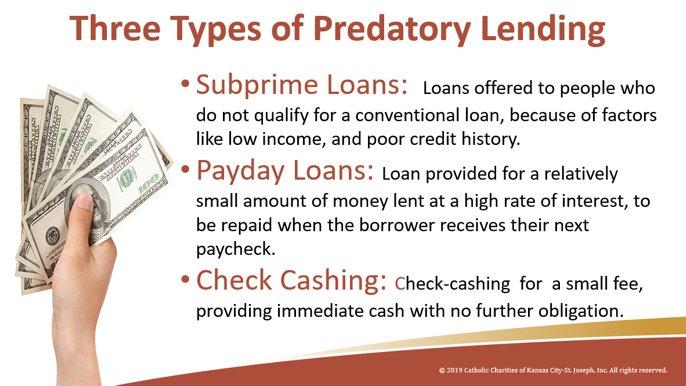 type on predatory lending